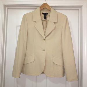 Limited Stretch Tan Brown Blazer Jacket Size Large